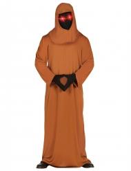 Costume monaco lugubre con occhi led per adulto
