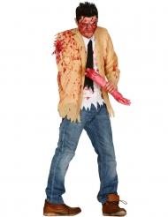 Costume da zombi per uomo con braccio amputato