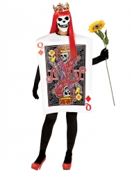 Costume regina di quadri scheletro per donna halloween