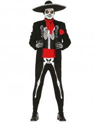 Costume scheletro messicano per uomo dia de los muertos