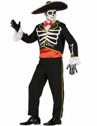Costume da mariachi scheletro per uomo Dia de los muertos