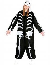 Costume tuta da scheletro per adulto halloween