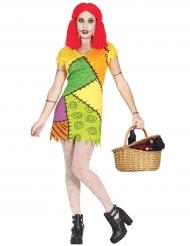 Costume da Bambola di pezza colorata per donna