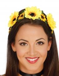Corona di fiori gialli per donna