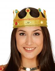 Corona da regina con brillantini e gioielli per adulto