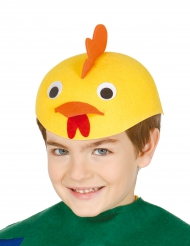 Cappello pulcino giallo per bambino