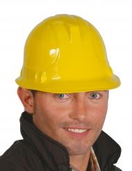 Image of Casco giallo da operaio per adulto
