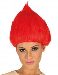 Parrucca rossa da Troll per adulti
