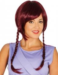 Parrucca caschetto con treccine per donna