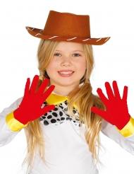 Guanti rossi per bambina