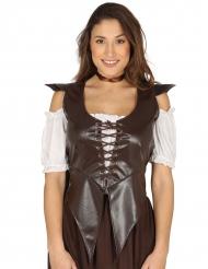 Corsetto marrone medievale per donna