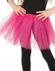 Tutù rosa con brillantini bambina