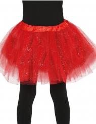 Tutù rosso con brillantini per bambina