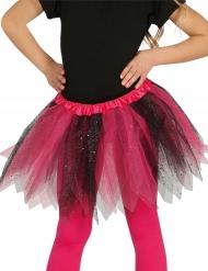 Tutù nero e rosa con brillantini