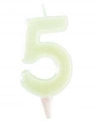Candela fosforescente 5 anni  6 cm