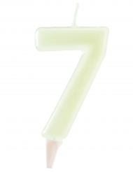 Candelina fosforescente cifra 6
