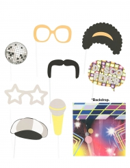 Kit photoboot disco 9 pezzi