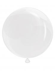Palloncino bianco trasparente 65 cm