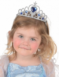 Diadema argentato e blu per bambina