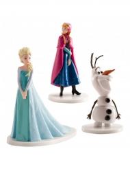 Decorazioni per torta Elsa, Anna e Olaf Frozen™ 7.5 cm
