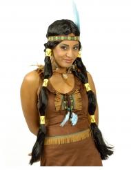 Parrucca lunga da indiana per donna