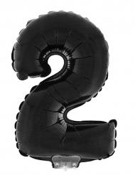 Palloncino gigante in alluminio numero 2 nero 1 m