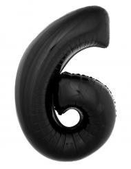 Palloncino in alluminio numero 6 nero 1 m