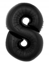 Palloncino gigante in alluminio numero 8 nero 1 m