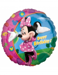 Palloncino alluminio Happy Birthday Minnie™ 43 cm