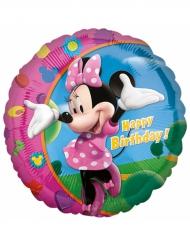 Palloncino alluminio Happy Birthday Minnie™ 43 cm