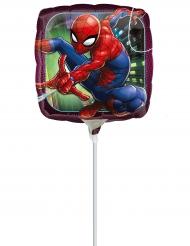 Palloncino in alluminio su asta Spiderman™ 23 cm