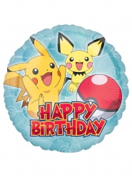 Palloncino alluminio Happy Birthday Pokemon™ 43 cm