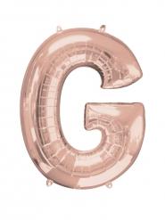 Palloncino alluminio Lettera G rosa 63x81 cm