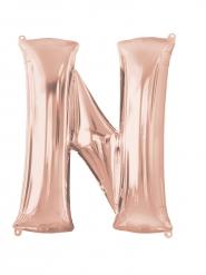 Palloncino alluminio Lettera N rosa 60x81 cm