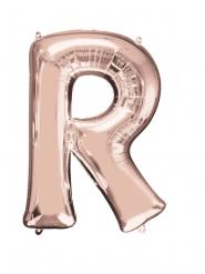 Palloncino alluminio lettera R rosa dorato 58 x 81 cm