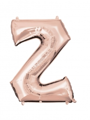 Palloncino in alluminio lettera Z rosa