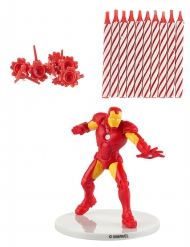 Kit candele di compleanno Iron Man™