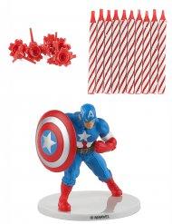 Kit candele di compleanno Capitan America™