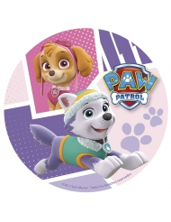 Disco in zucchero Paw Patrol™ Skye ed Everest™ 20 cm