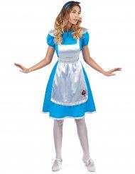 Costume da Alice bianco e blu per donna