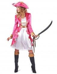 Costume da pirata rosa per donna