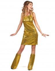 Costume disco dorato con paillettes per donna