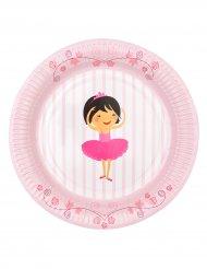 6 piatti di carta a tema ballerina