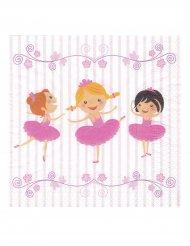 20 tovaglioli di carta a tema ballerina