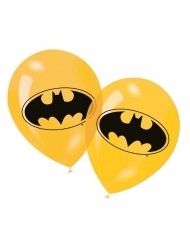 6 palloncini gialli  in latex Batman™