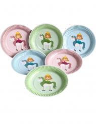 6 piatti di carta della Principessa