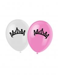 6 palloncini con stampate Principesse