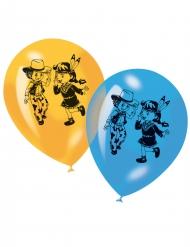 6 palloncini stampati Cowboy e Indiani