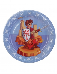 6 piatti di carta cavaliere 23 cm