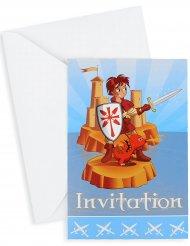6 inviti con buste Cavaliere